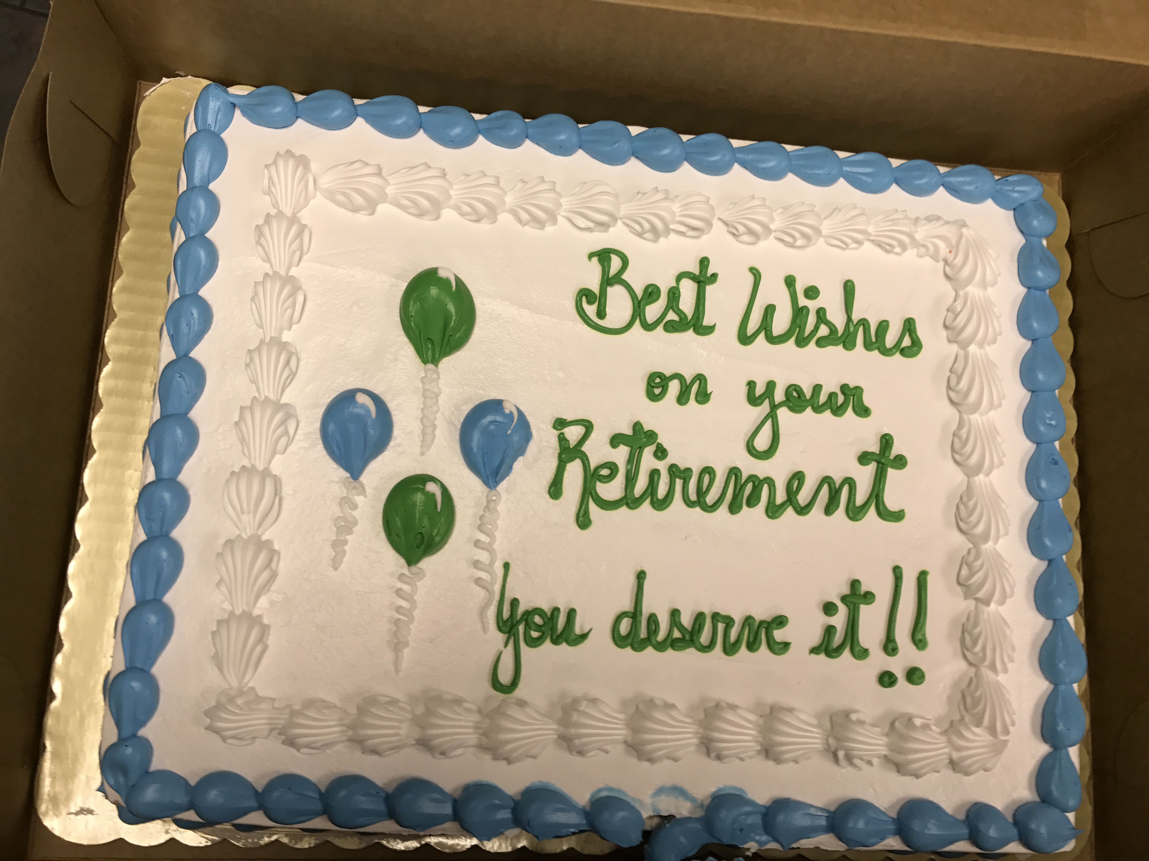 Male Cake Retirement Messages
